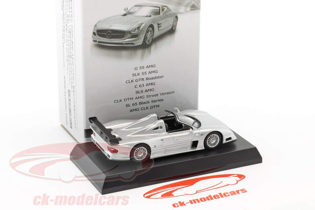 Mercedes-Benz CLK GTR Roadster silver 1:64 Kyosho