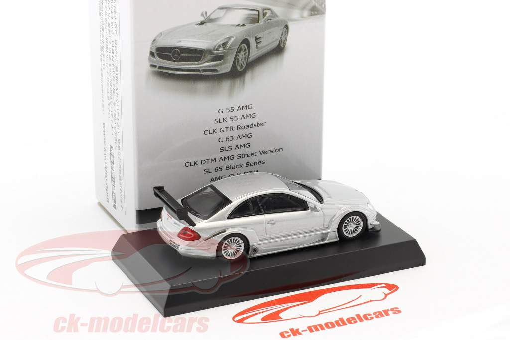 Mercedes-Benz CLK DTM AMG Street Version argent 1:64 Kyosho