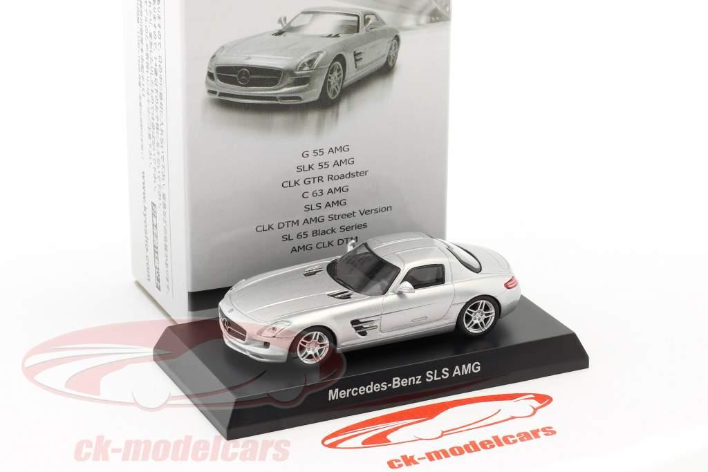 Mercedes-Benz SLS AMG silver metallic 1:64 Kyosho