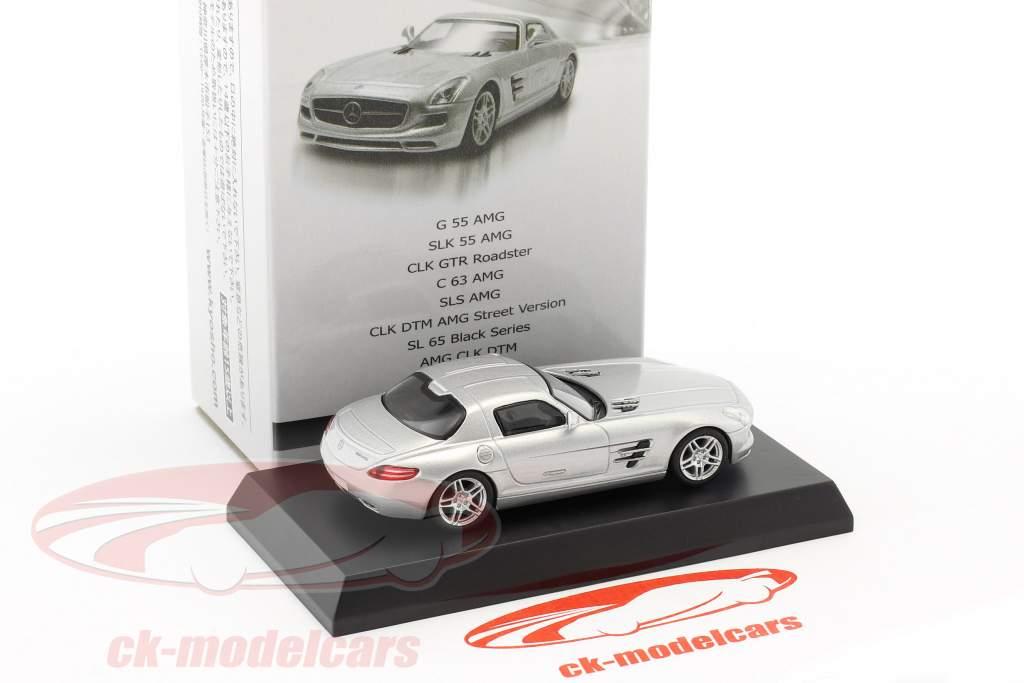 Mercedes-Benz SLS AMG argento metallico 1:64 Kyosho