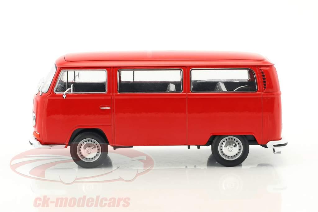 Volkswagen VW T2 autobus anno di costruzione 1972 rosso 1:24 Welly