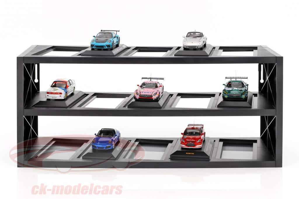 plastica vetrina per su a 15 modelli in scala 1:43 nero Atlas