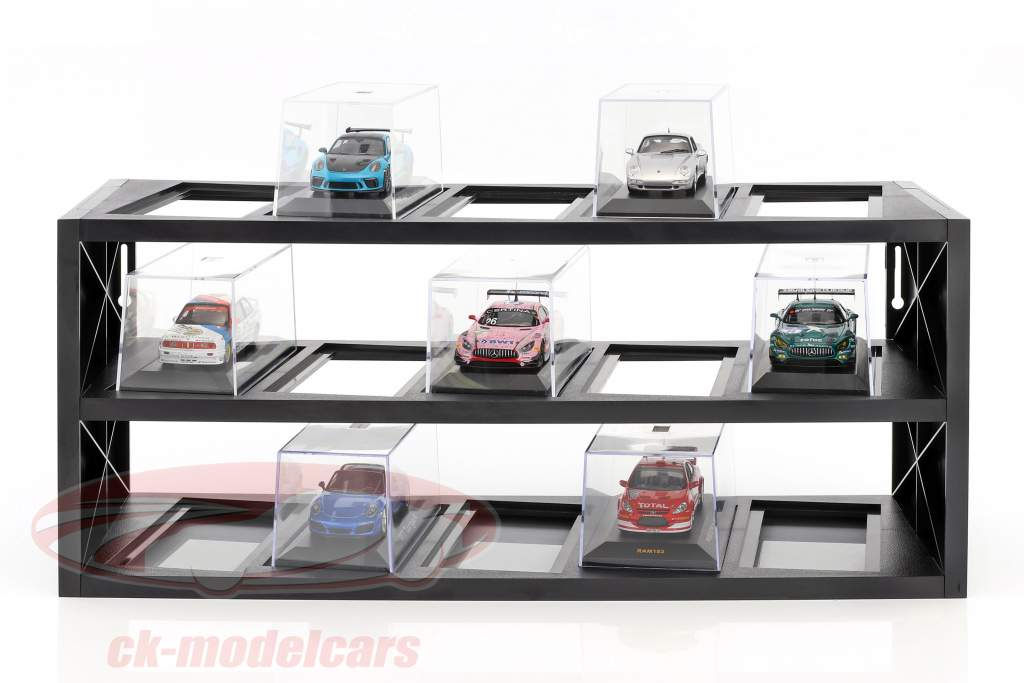 Plastic Showcase for up to 15 models in scale 1:43 black Atlas