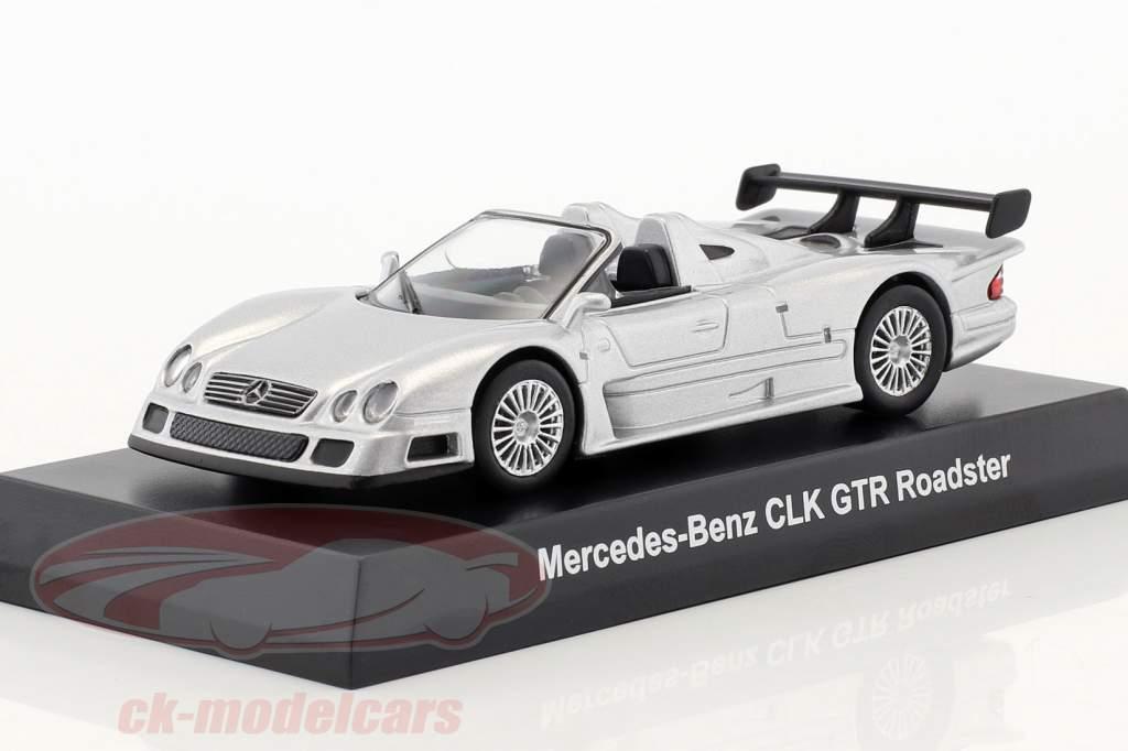 Mercedes-Benz CLK GTR roadster argent 1:64 Kyosho
