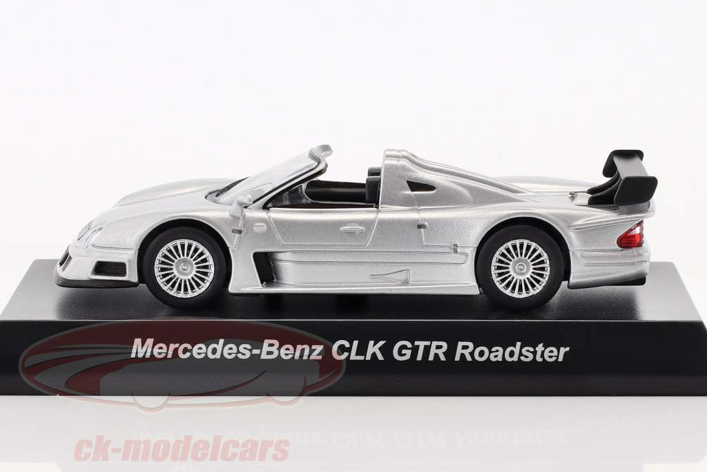Mercedes-Benz CLK GTR Roadster argento 1:64 Kyosho