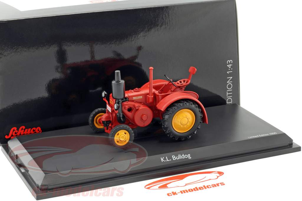K.L. Bulldog tractor rot 1:43 Schuco