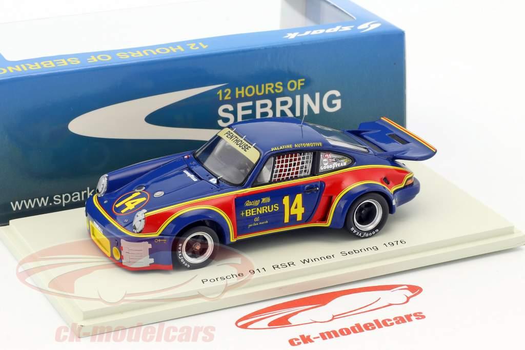 Porsche 911 Carrera RSR #14 vincitore 12h Sebring 1976 Holbert, Keyser 1:43 Spark