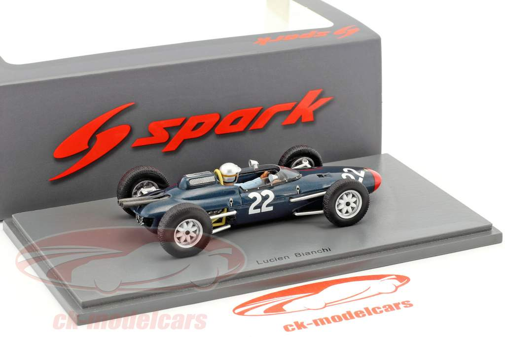Lucien Bianchi Lola Mk4 #22 Belgique GP formule 1 1963 1:43 Spark