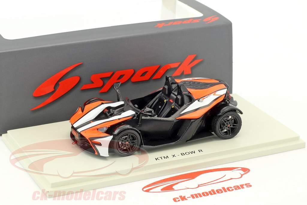 KTM X-Bow R année de construction 2016 noir / orange / blanc 1:43 Spark