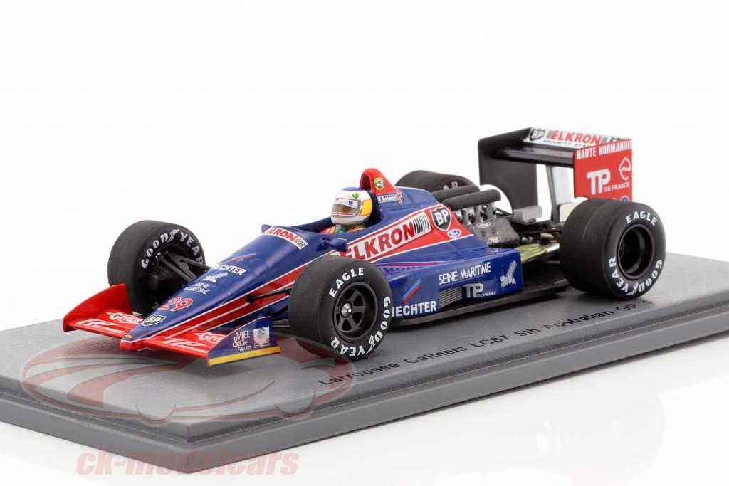 Yannick Dalmas Lola LC87 #29 5 australien GP formule 1 1987 1:43 Spark