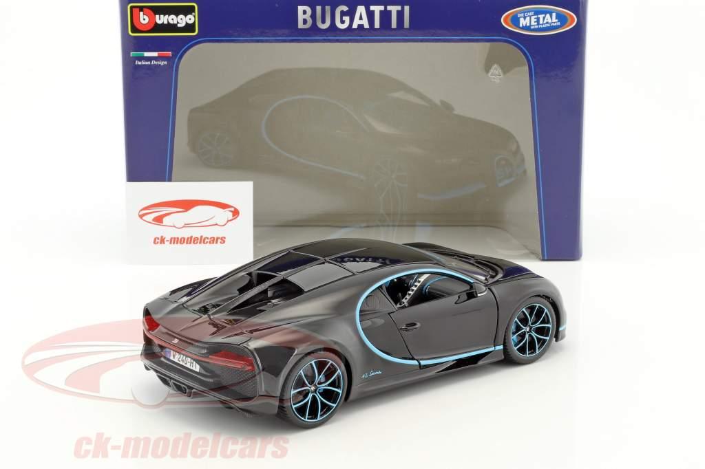 Bugatti Chiron World Record Car #42 J.-P. Montoya schwarz 1:18 Bburago