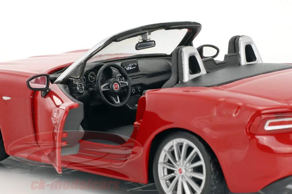 Fiat 124 Spider vermelho 1:24 Bburago