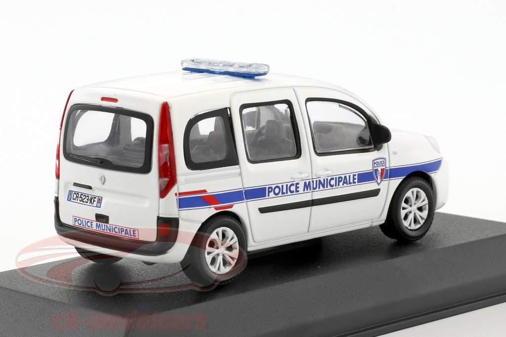 Renault Kangoo Police Municipale Baujahr 2013 weiß 1:43 Norev