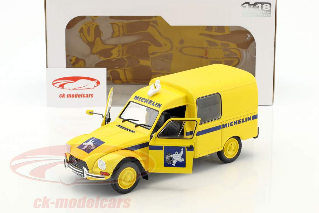 Citroen Acadiane Michelin année de construction 1984 jaune 1:18 Solido