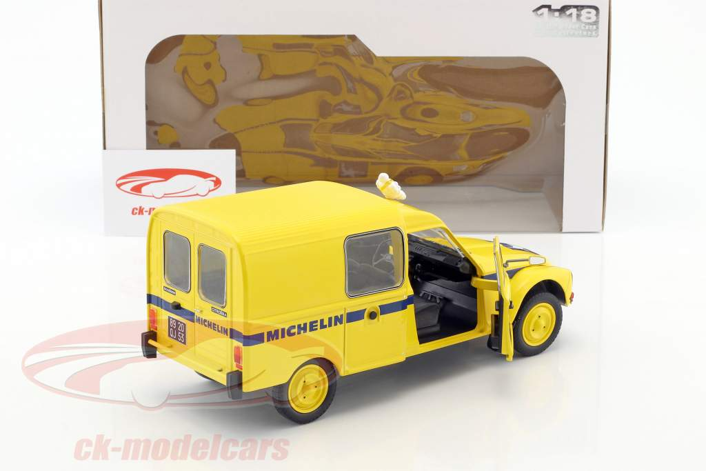 Citroen Acadiane Michelin year 1984 yellow 1:18 Solido