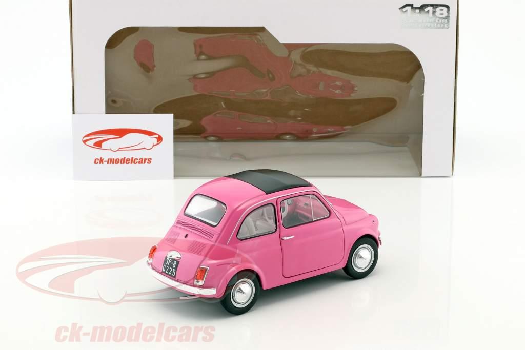 Fiat 500 L Italia year 1969 pink 1:18 Solido