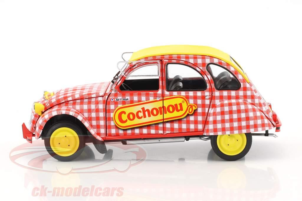 Citroen 2CV6 Cochonou Baujahr 1985 rot / weiß / gelb 1:18 Solido