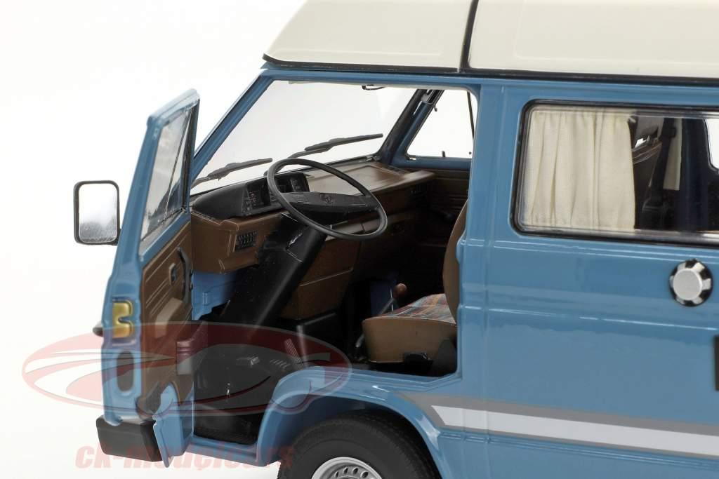 Volkswagen VW T3a Joker campeur avec toit pliant bleu moyen / blanc 1:18 Schuco