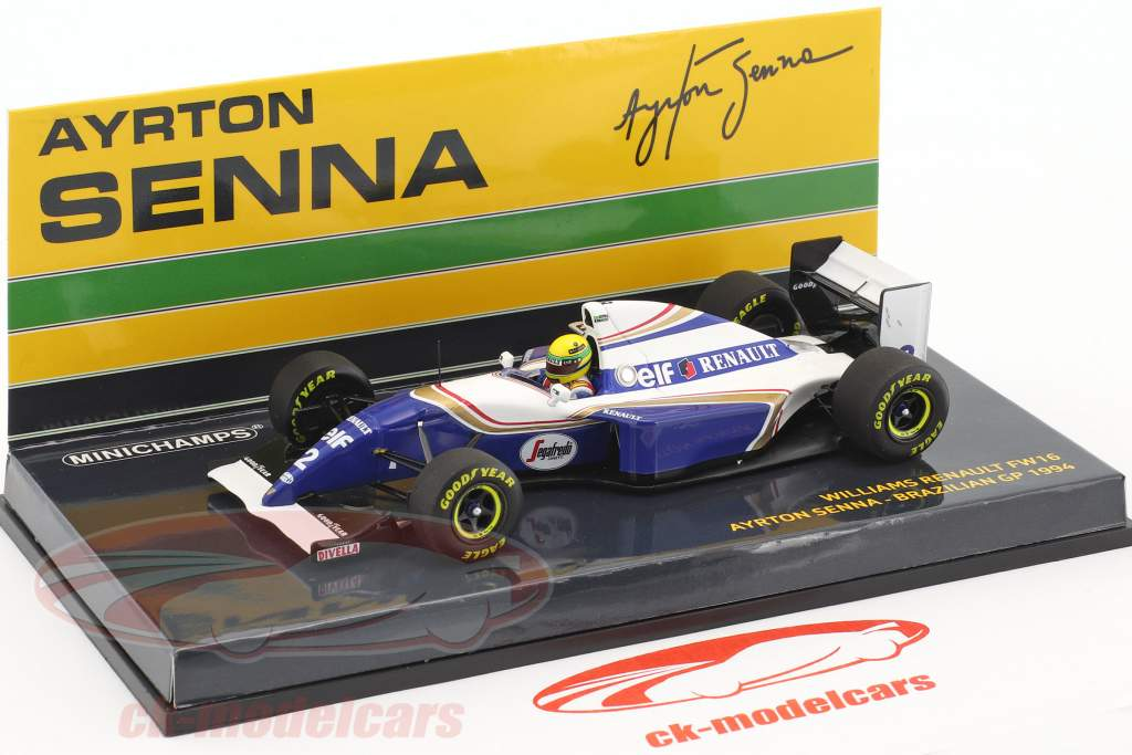 Ayrton Senna Williams FW16 #2 Brazil GP formula 1 1994 1:43 Minichamps