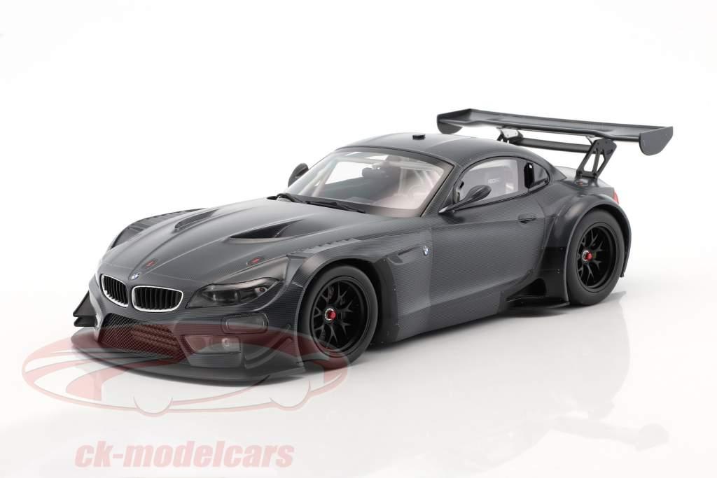 BMW Z4 GT3 E89 carbon Decoration year 2015 dark gray 1:18 Minichamps