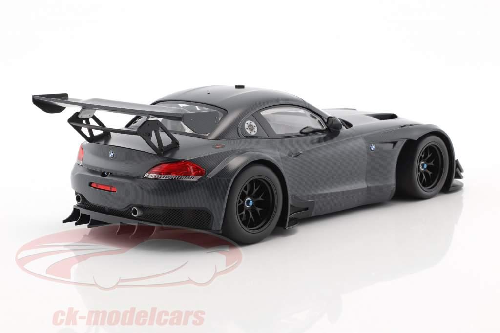 BMW Z4 GT3 E89 carbonio decorazione anno di costruzione 2015 grigio scuro 1:18 Minichamps