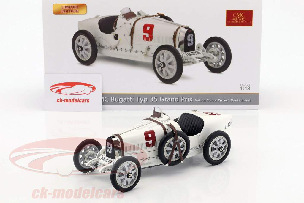 Bugatti tipo 35 Grand Prix #9 Nation Colour Project Germania 1:18 CMC