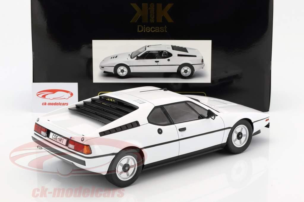 BMW M1 (E26) Street ano de construção 1978 branco 1:12 KK-Scale
