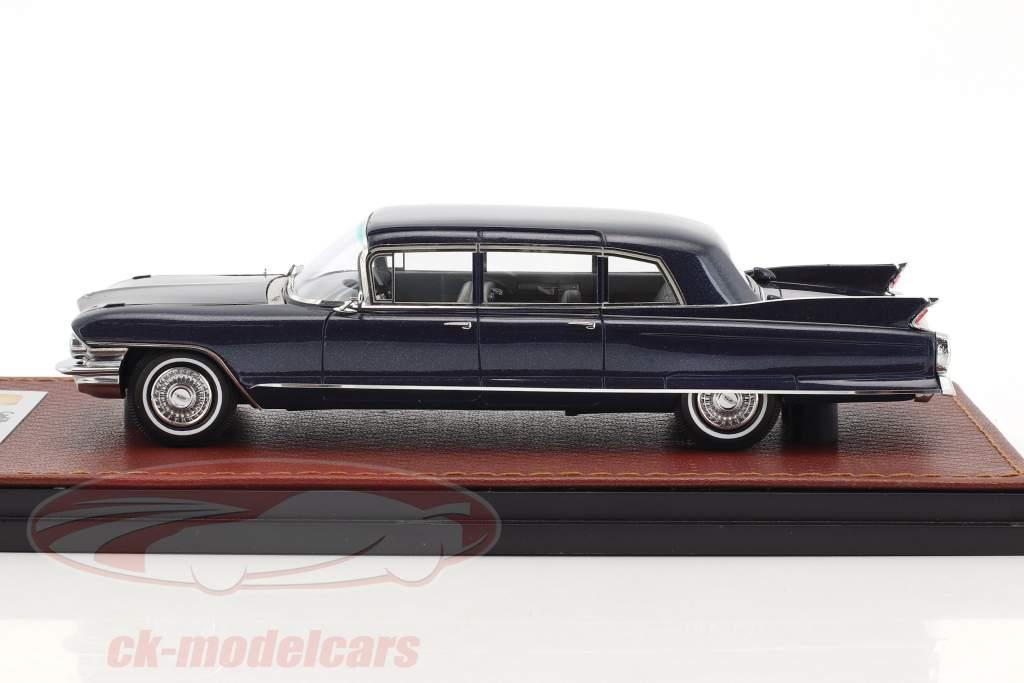 Cadillac Seventy Five Fleetwood year 1962 dark blue 1:43 GLM