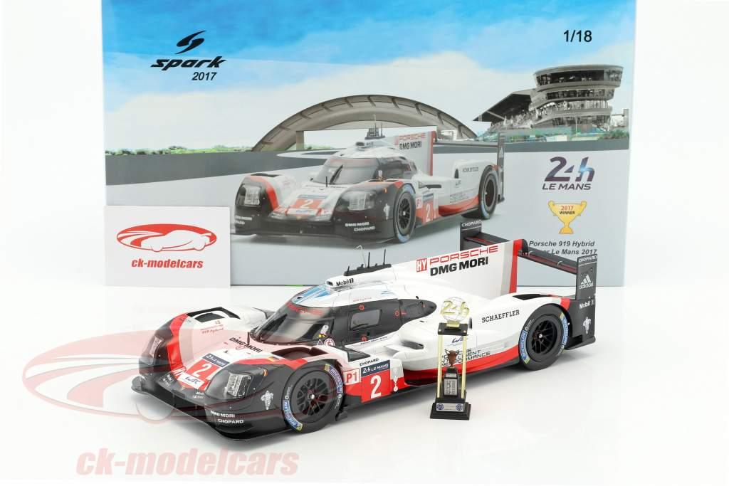 Porsche 919 Hybrid #2 vincitore 24h LeMans 2017 Bernhard, Hartley, Bamber 1:18 Spark