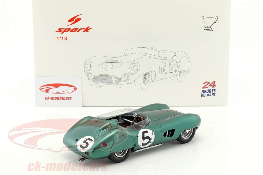 Aston Martin DBR1 #5 vincitore 24h LeMans 1959 Shelby, Salvadori 1:18 Spark