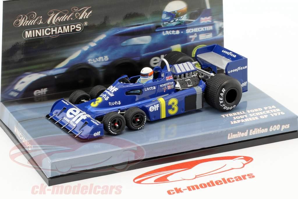 Jody Scheckter Tyrrell P34 #3 giapponese GP formula 1 1976 1:43 Minichamps