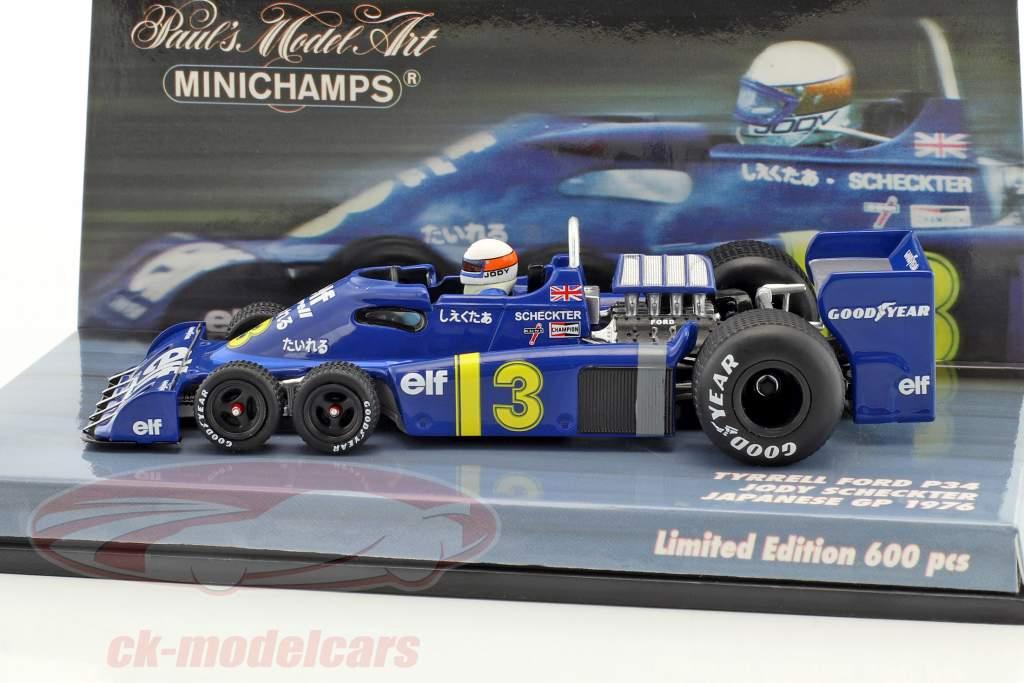 Jody Scheckter Tyrrell P34 #3 japonais GP formule 1 1976 1:43 Minichamps