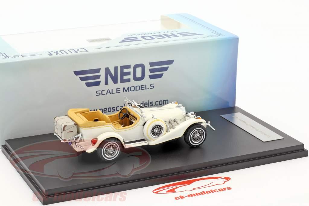 Excalibur Series III Phaeton anno di costruzione 1977 bianco 1:43 Neo