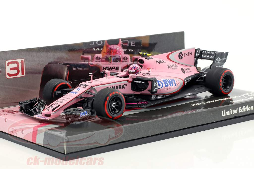 Esteban Ocon Force India VJM10 #31 GP China Formel 1 2017 1:43 Minichamps