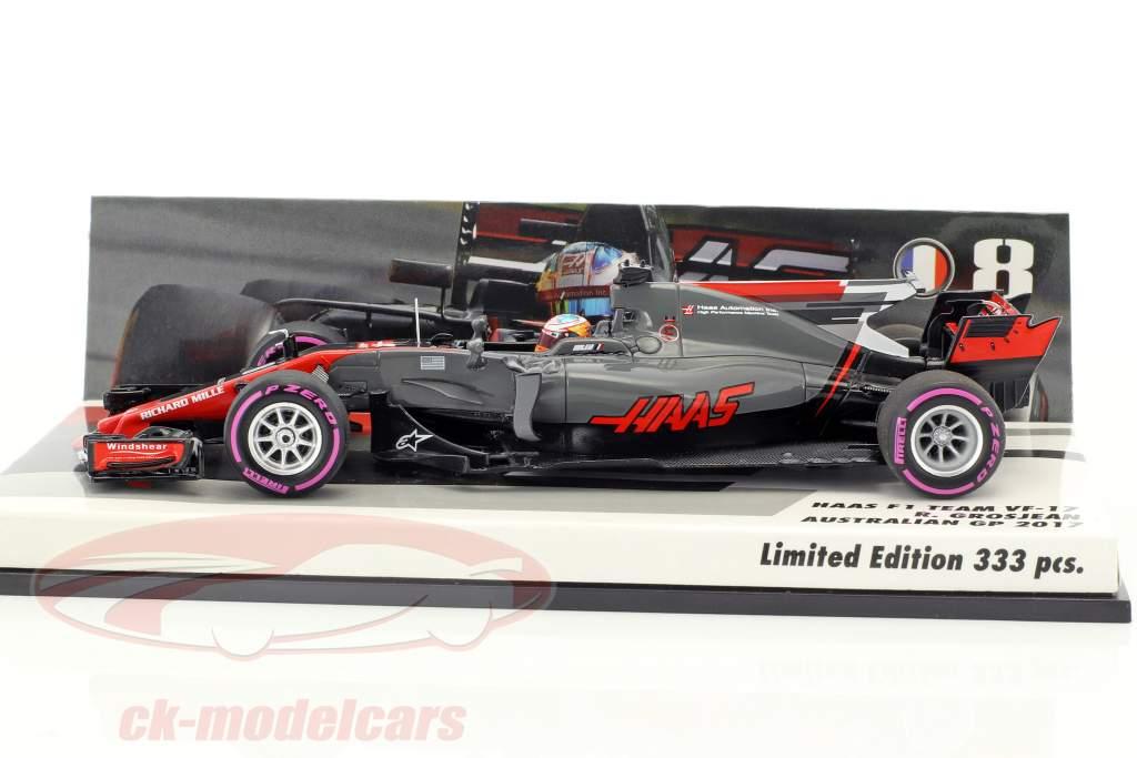 Romain Grosjean Haas VF-17 #8 Australia GP formula 1 2017 1:43 Minichamps