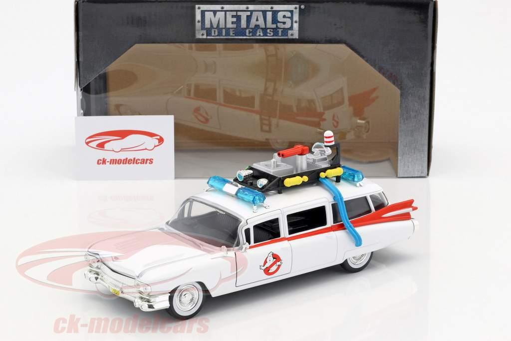 Cadillac Ecto-1 de la film Ghostbusters 1984 blanc 1:24 Jada Toys