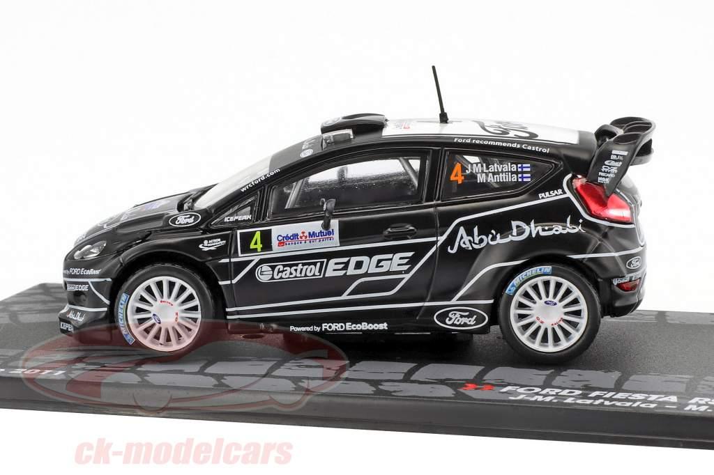 Ford Fiesta RS WRC #4 4th Rallye France 2011 Latvala, Anttila 1:43 Altaya