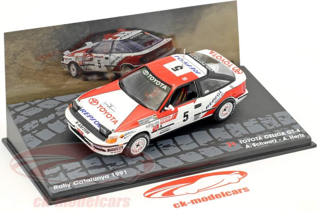 Toyota Celica GT-4 #5 gagnant Rallye Catalunya 1991 Schwarz, Hertz 1:43 Altaya