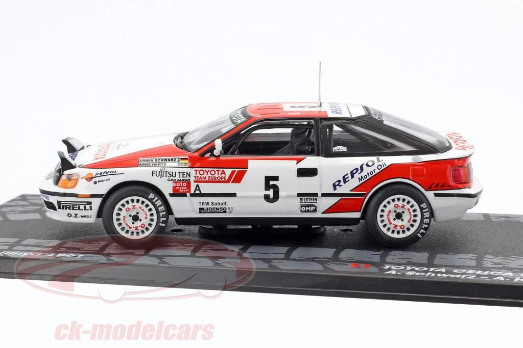 Toyota Celica GT-4 #5 winner Rallye Catalunya 1991 Schwarz, Hertz 1:43 Altaya