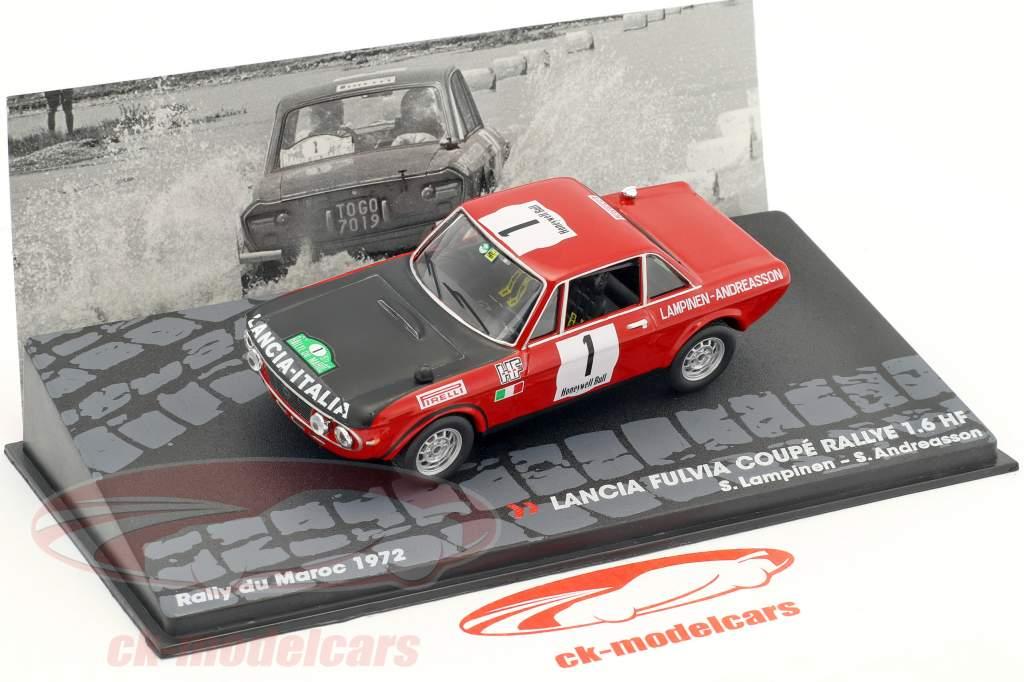 Lancia Fulvia Coupe 1.6 HF #1 gagnant Rallye du Maroc 1972 Lampinen, Andreasson 1:43 Altaya