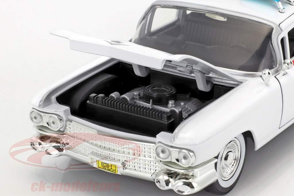 Cadillac Ecto-1 da il film Ghostbusters 1984 bianco 1:24 Jada Toys