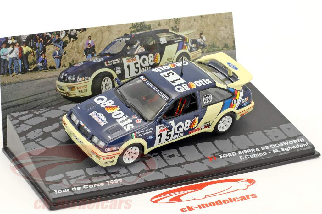 Ford Sierra RS Cosworth #15 7th Tour de Corse 1989 Cunico, Sghedoni 1:43 Altaya