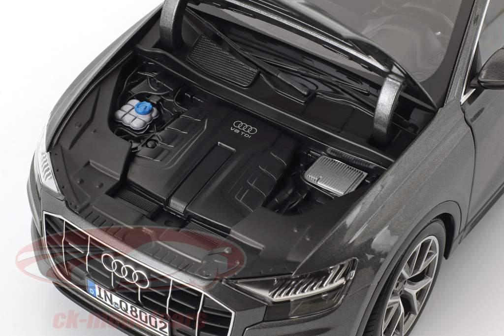 Audi Q8 year 2018 samurai gray 1:18 Norev