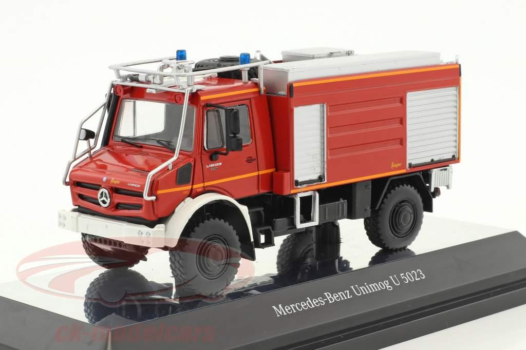 Mercedes-Benz Unimog U 5000 Feuerwehr rot 1:50 NZG