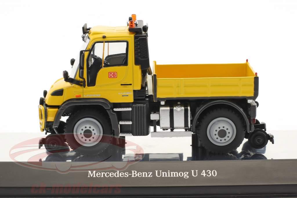 Mercedes-Benz Unimog U 400 2 Wege Deutsche Bahn gelb 1:50 NZG