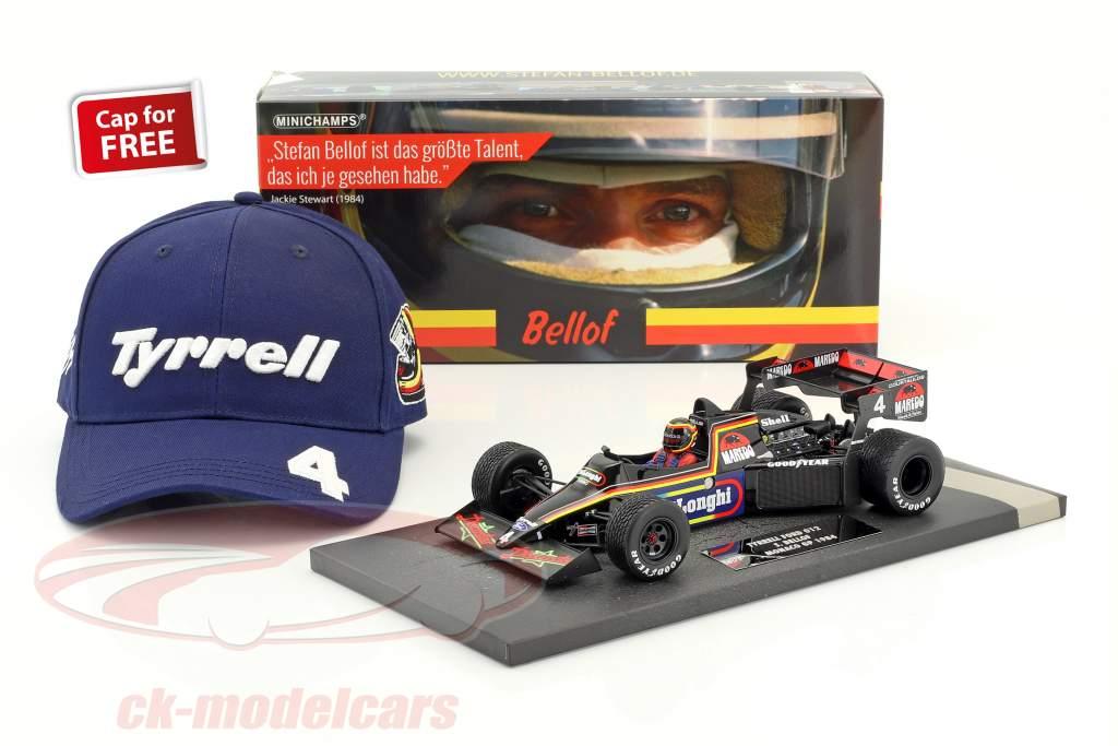 Stefan Bellof Tyrrell 012 #4 Monaco GP formula 1 1984 with Cap 1:18 Minichamps