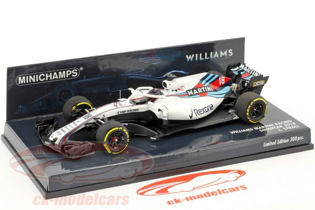 Lance Stroll Williams FW41 #18 Showcar Formel 1 2018 1:43 Minichamps