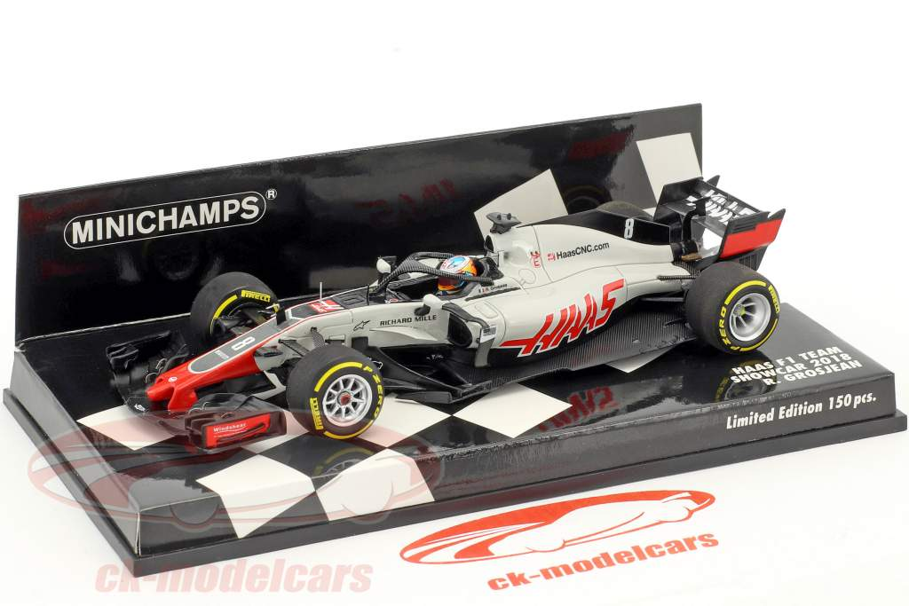 Romain Grosjean Haas VF-18 #8 Showcar Formel 1 2018 1:43 Minichamps