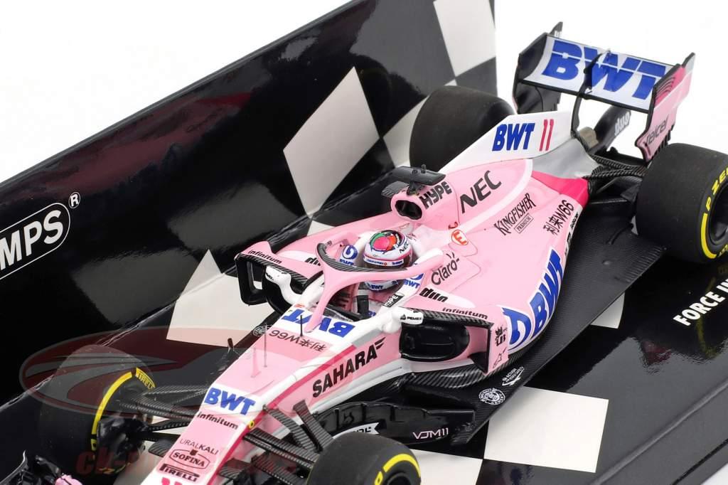 Sergio Perez Force India VJM11 #11 showcar formula 1 2018 1:43 Minichamps