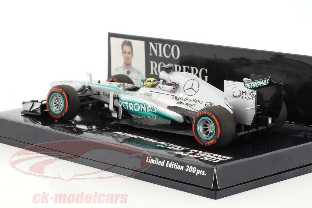 Nico Rosberg Mercedes F1 W04 #9 Stati Uniti d'America GP formula 1 2013 1:43 Minichamps
